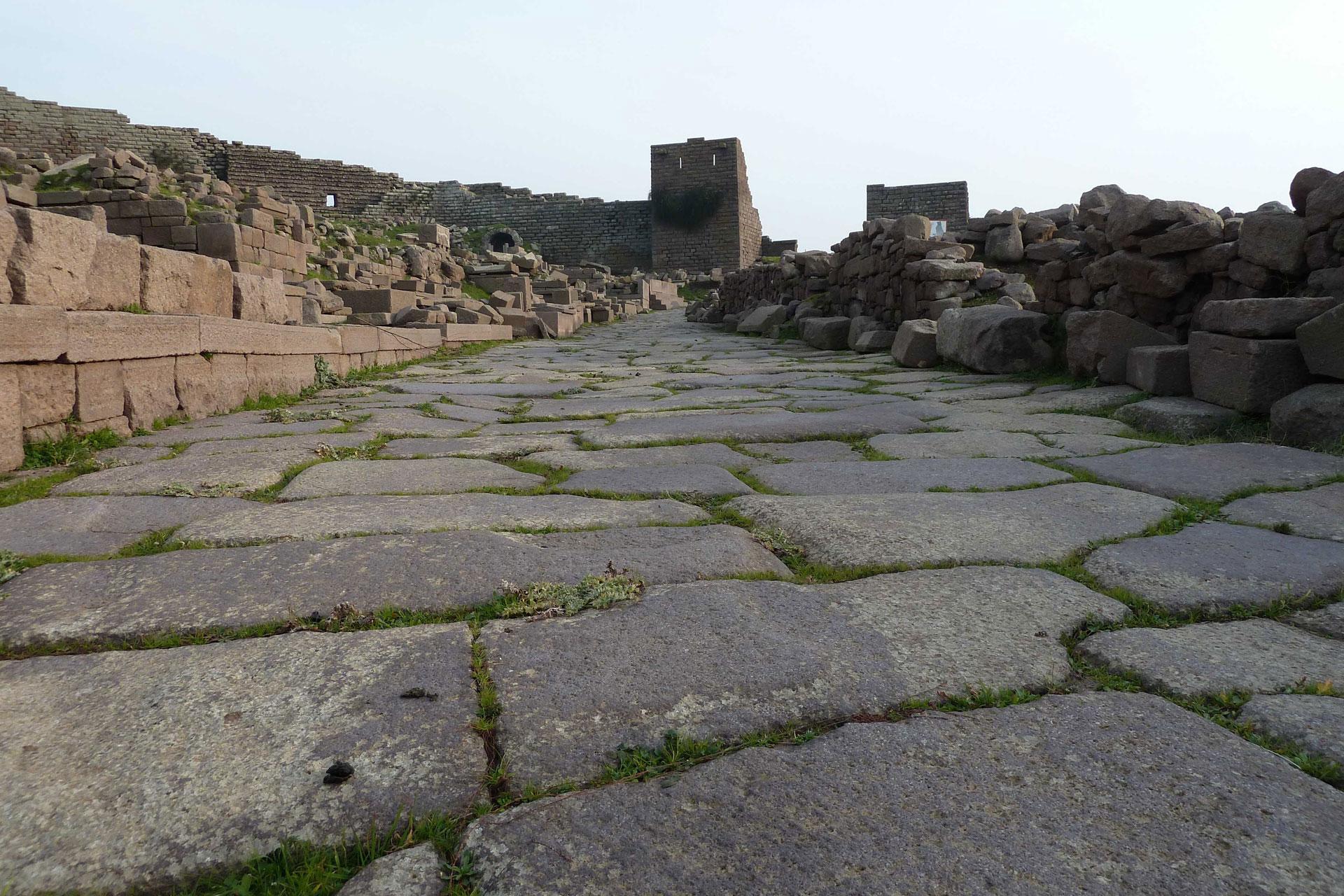 Strase der Gebeine Assos Türkei