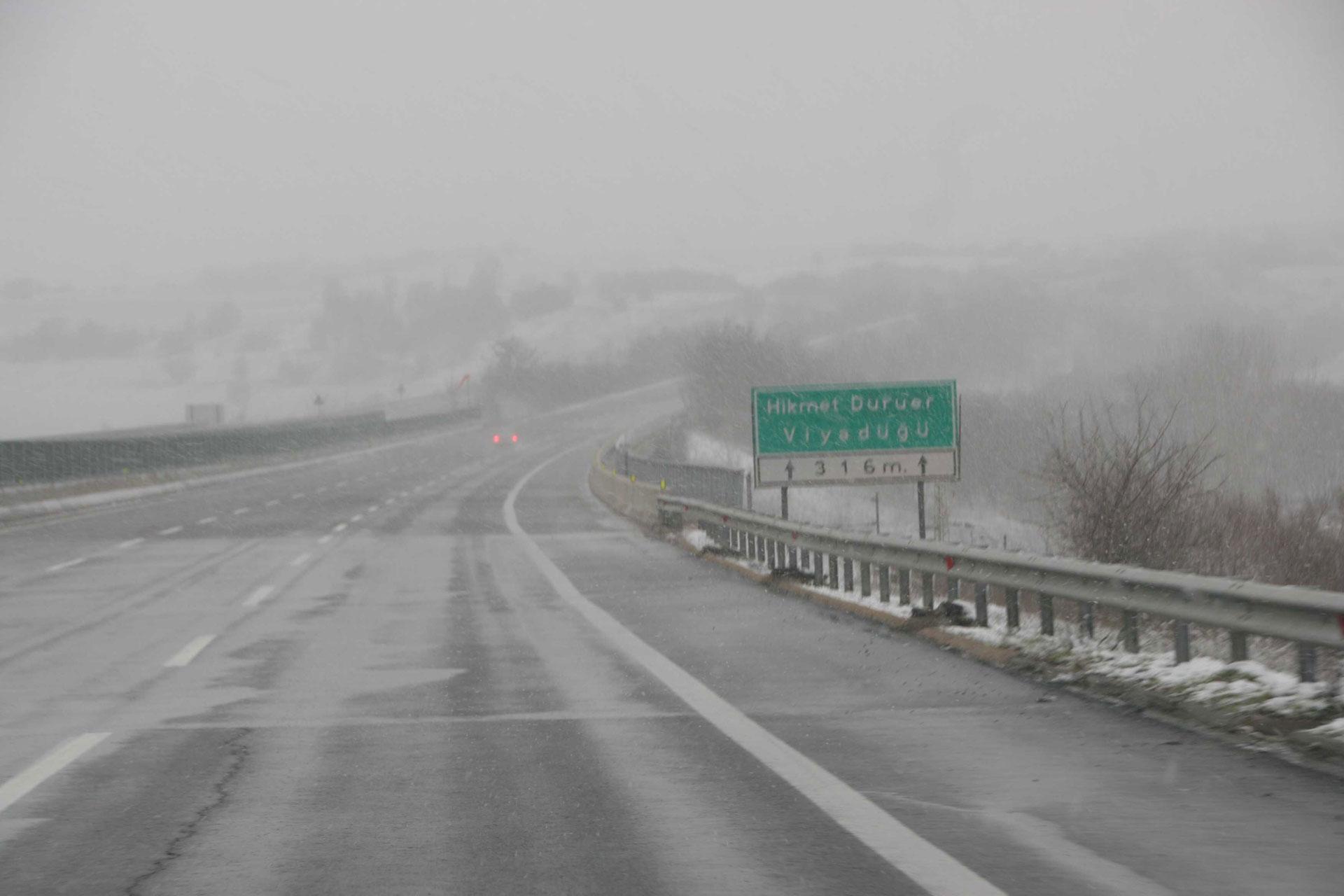 Wintereinbruch in Serbien