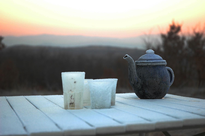 Frostiger Morgen Bulgarien