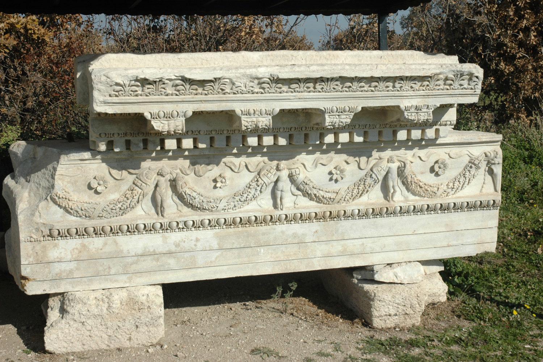 Tempel auf der Agora Türkei