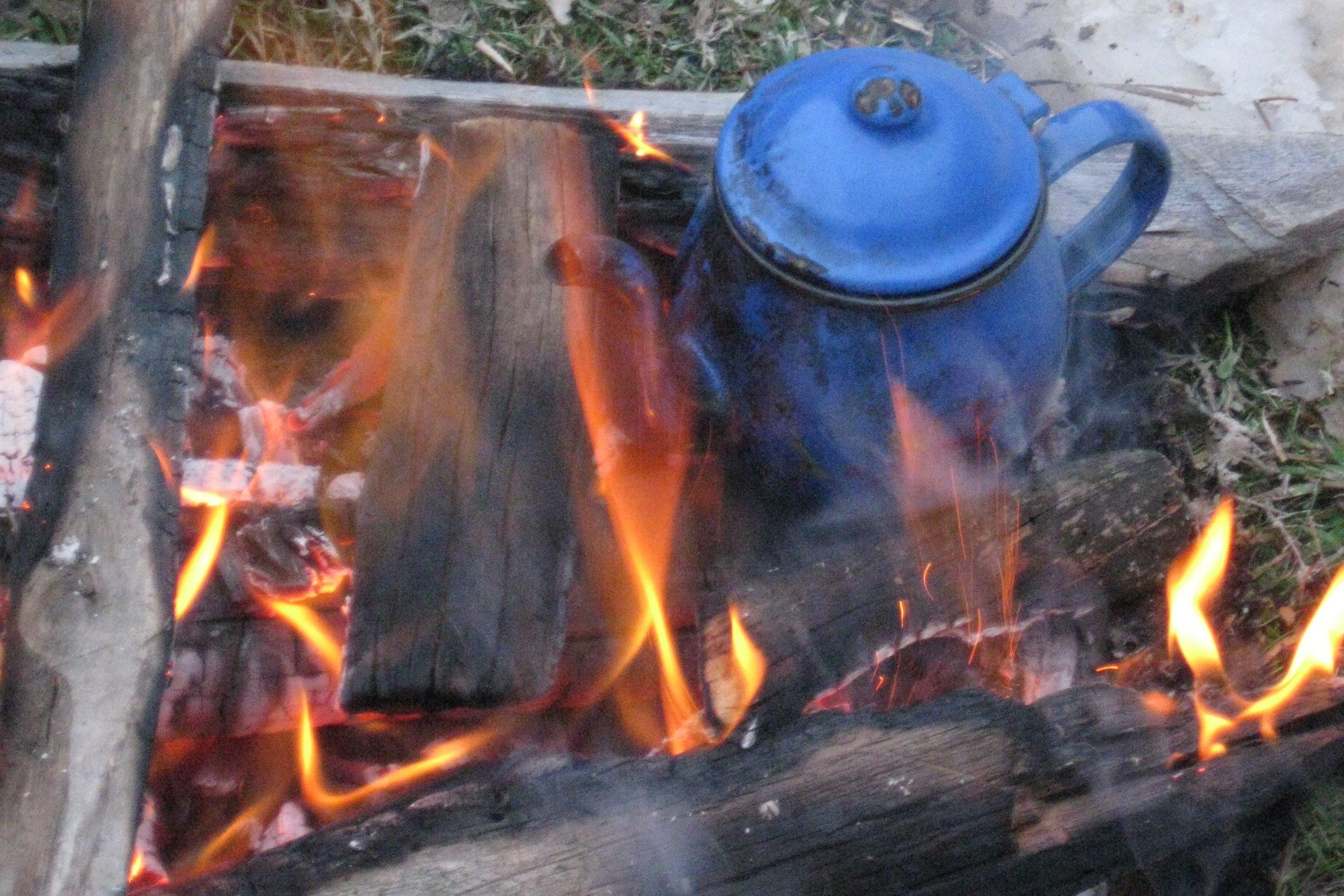 camping draussen kochen